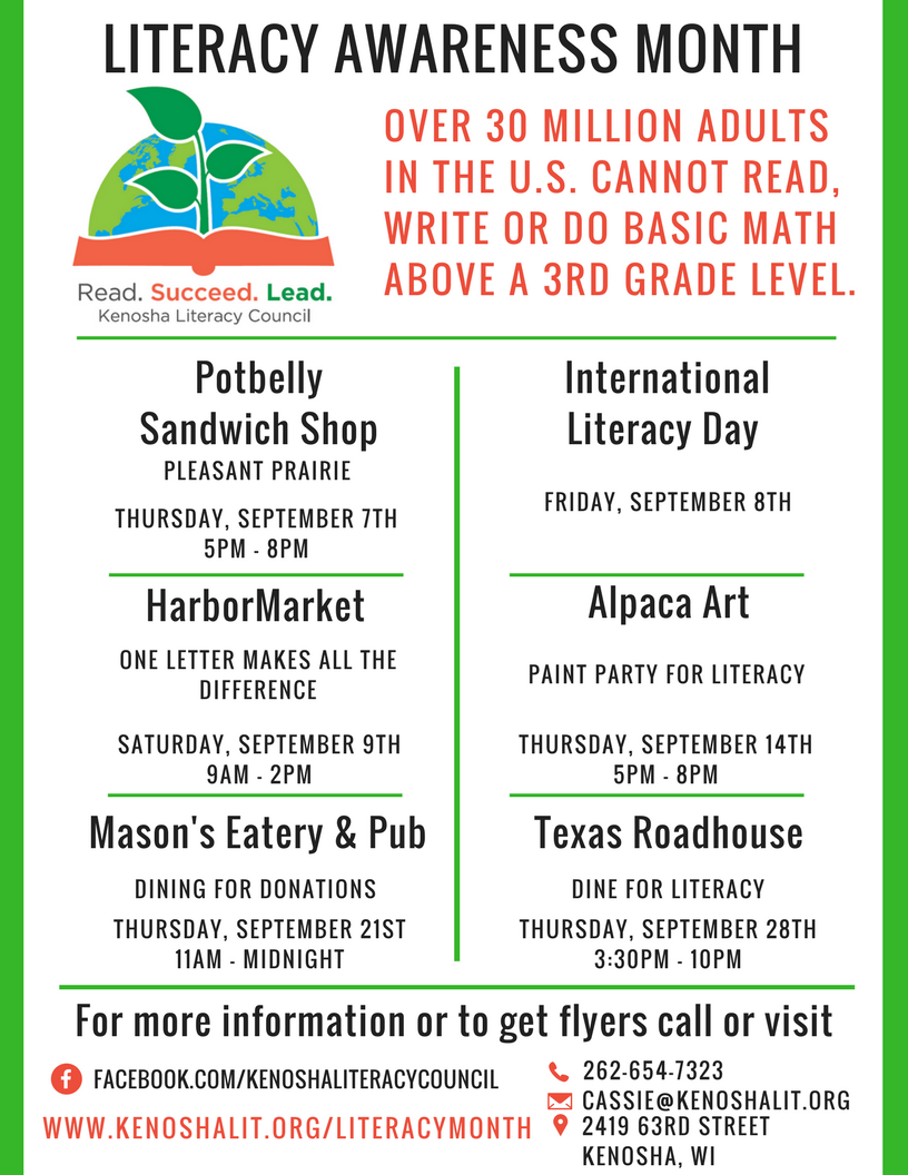 Literacy Month Schedule