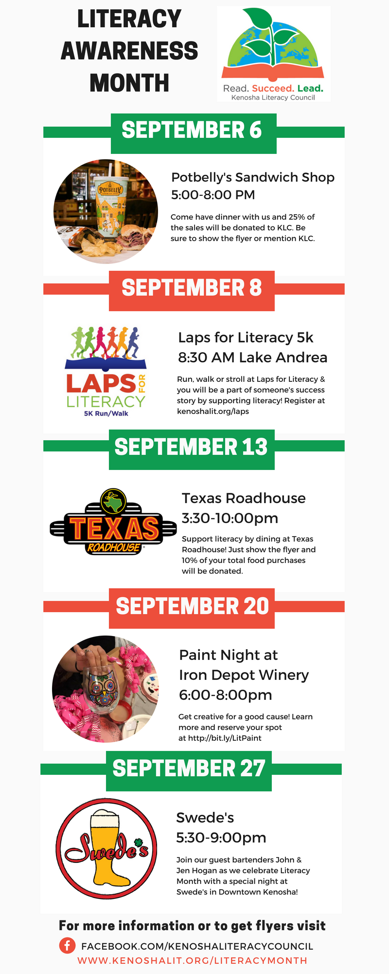 Literacy Month Schedule